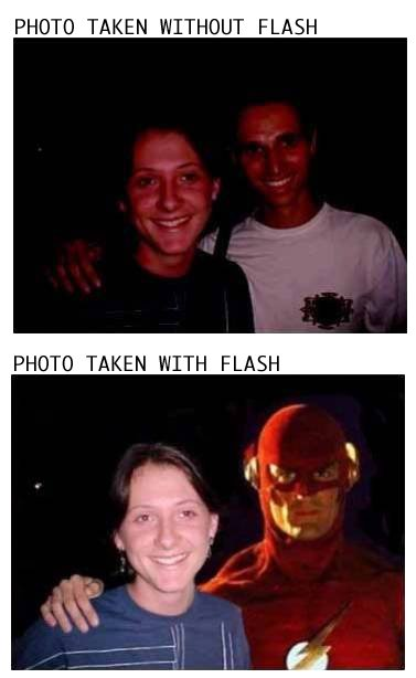 with flash Without And With Flash Humor Comic Books