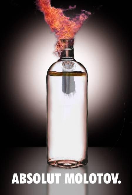 fe46s0 Molotov Cocktails!  Yum! Humor