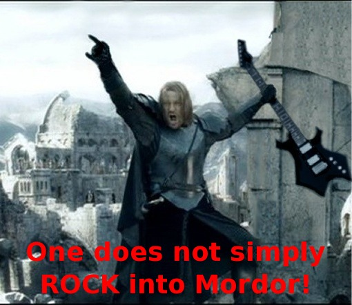 mordor rock One Does Not Simply Walk Into Mordor! Movies Humor