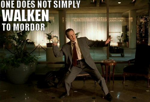 mordor walken.thumbnail One Does Not Simply Walk Into Mordor! Movies Humor