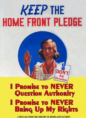 pledge Keep The Home Front Pledge Politics Humor