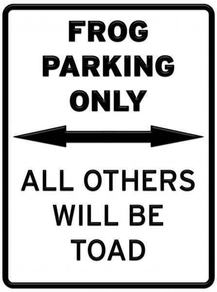 parking frog.thumbnail Frog Parking Only Humor