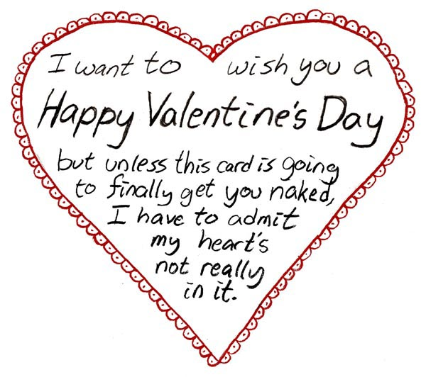 S happy card valentine day