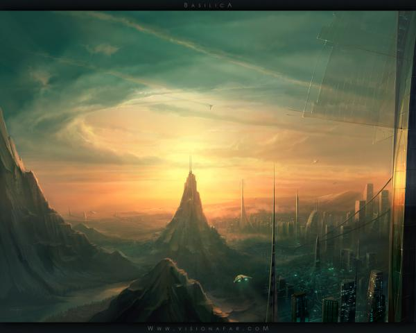 basilica 1280.thumbnail Basilica Wallpaper Fantasy   Science Fiction