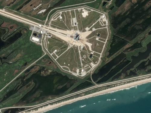 kennedy space centre.thumbnail Satellite Picture of Kennedy Space Center Space Aerial