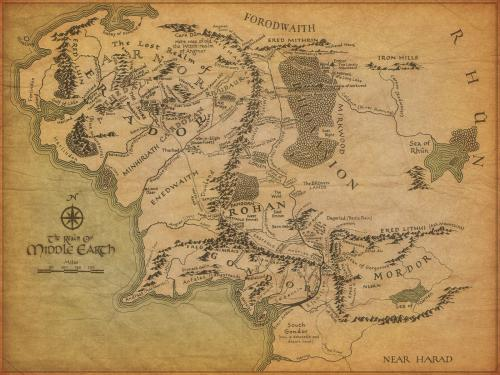 map of middle earth.thumbnail Map of Middle Earth  Movies