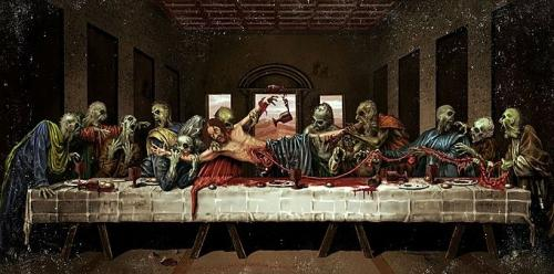 jesus supper zombie.thumbnail Zombie Last Supper wtf The Last Supper Religion Humor