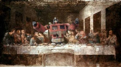 last supper 2.thumbnail Transformers   Last Supper Television Religion Humor Comic Books