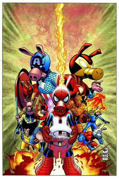 spider ham.thumbnail Spider Ham and the Marvel Comics Civil War Money Maker wtf Humor Comic Books