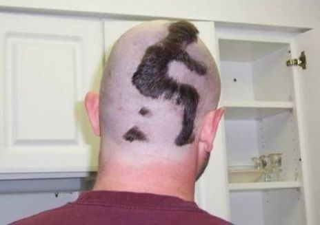 toilet hair Shitty Haircut wtf Humor