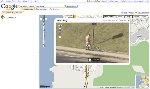 Google Pee Man