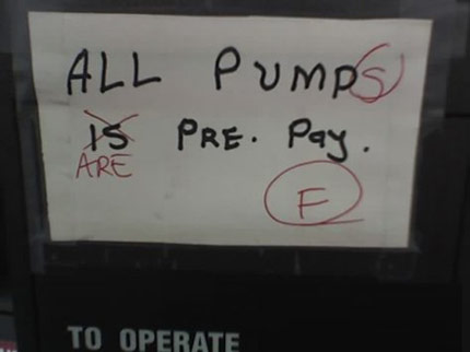 your fail All pump is pre pay Humor