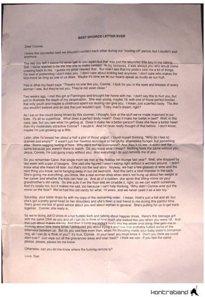 Best Divorce Letter Ever