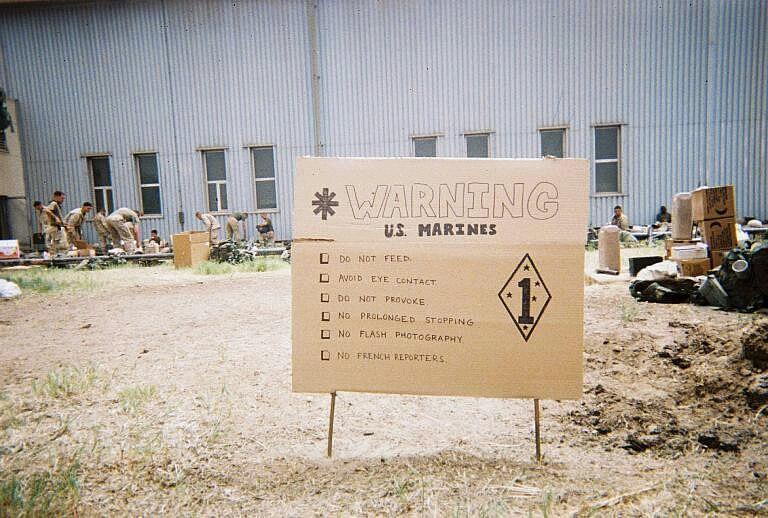 US Marine Warning Sign