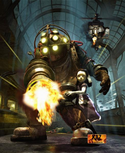 bioshock big daddy little sister.thumbnail BioShocks Big Daddy and Little Sister Gaming Fantasy   Science Fiction