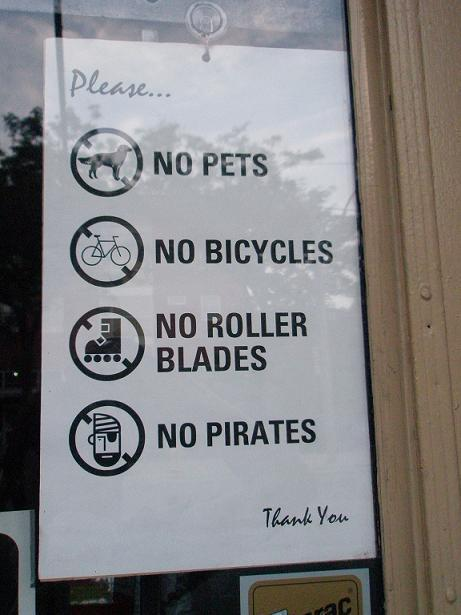 arrr…..I'll eat somewhere else then.