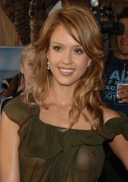 oh my.thumbnail Jessica Alba   See Through Dress (NSFW)
