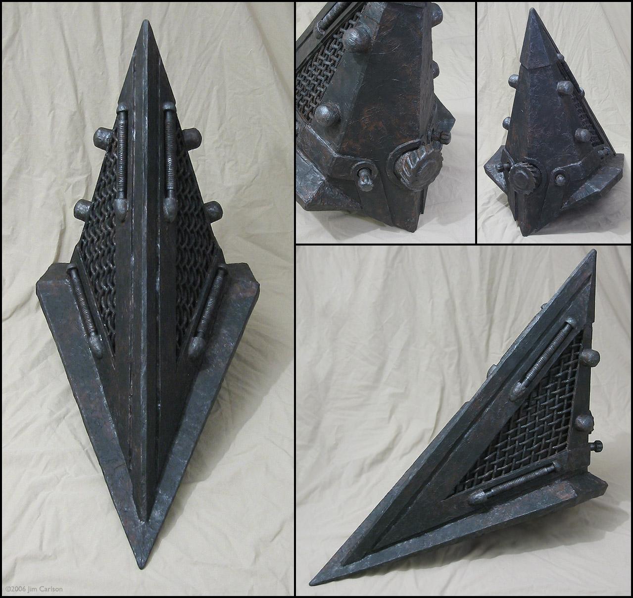 Pyramid head helmet