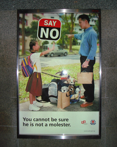 molesterposter01 SAY NO   You cannot be sure he is not a molester wtf Dark Humor