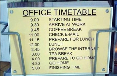 officetimetable Office Timetable Humor Forum Fodder