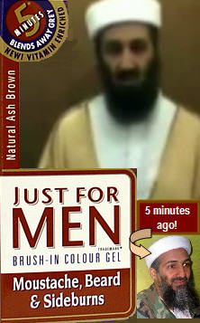 Osama Bin Coloring His Beard...