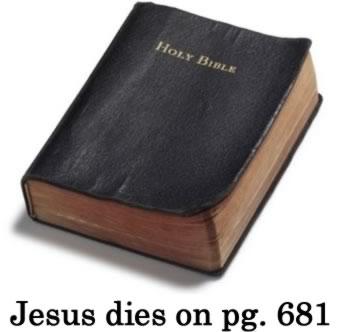 bible spoilers Bible Spoilers   Jesus Dies Religion Humor
