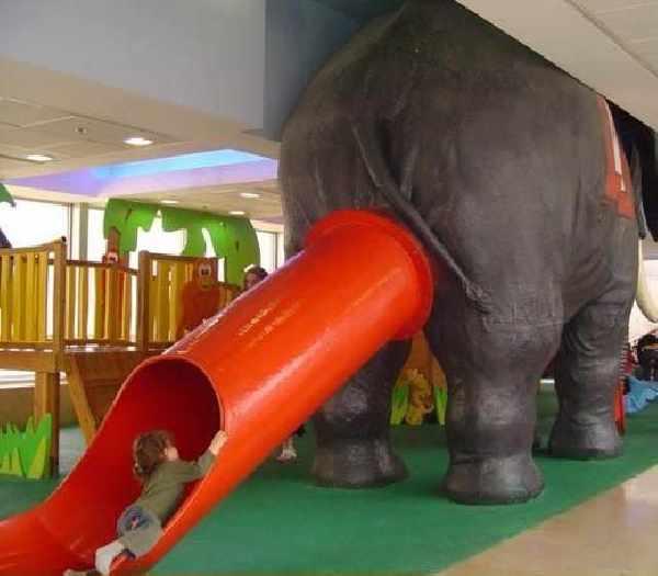Elephant butt slide
