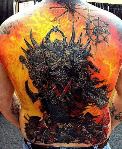 Marine Corps Tattoo Designs Chaos Marine Tattoo - October 21, 2007 added by