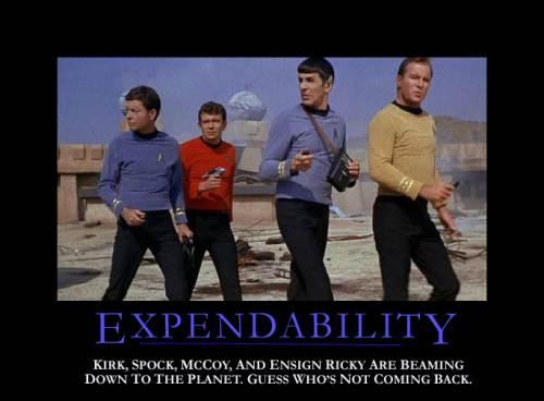 Star Trek Motivational Poster Expendability