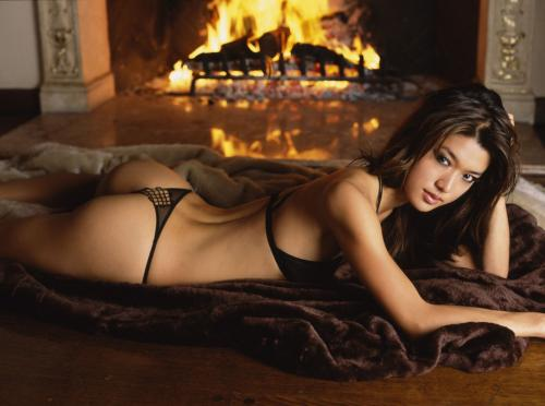 grace park.thumbnail NSFW   Grace Park In Front Of A Fire
