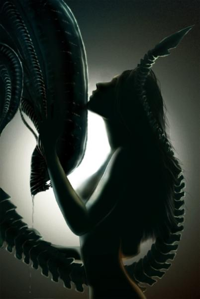 Girl with alien