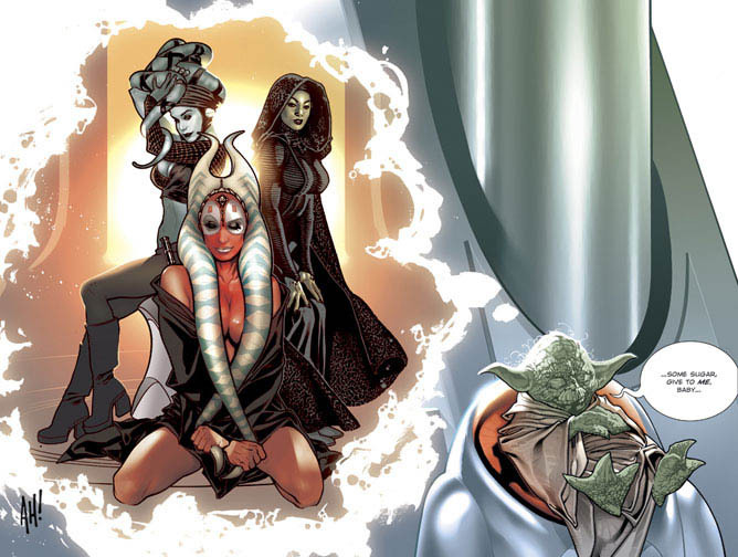 jedibabes01 Yoda Dreams of Jedi babes Wallpaper Sexy Humor Fantasy   Science Fiction