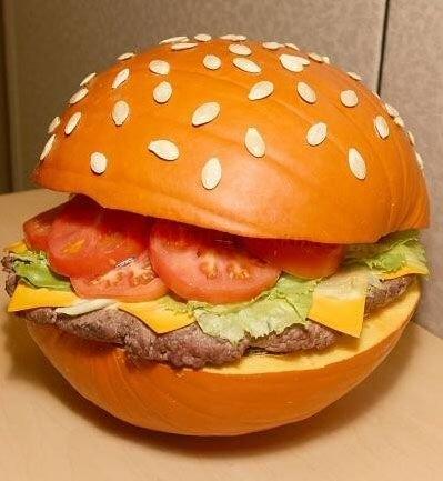 Pumpkin burger