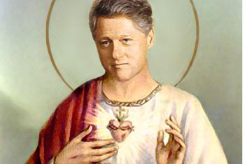 saintclinton com 03 Saint Clinton Sexy Religion Politics Humor