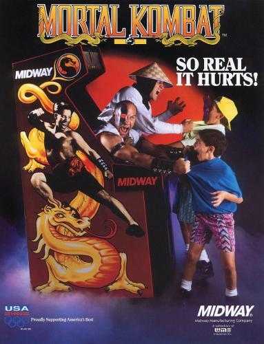 mortal kombat arcade flyer.thumbnail Mortal Kombat Arcade Flyer Gaming Advertisements