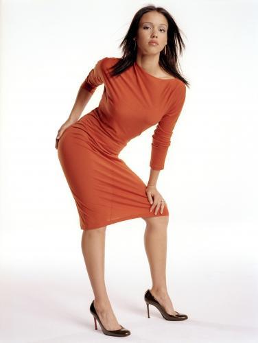 jessica-alba-orange-dress