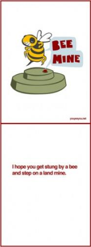 bee mine.thumbnail Bee Mine Valentines Day Humor