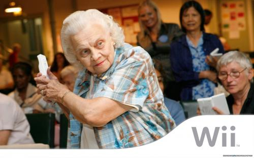 wii grannie.thumbnail Wii Grandma Wallpaper Humor Gaming Advertisements