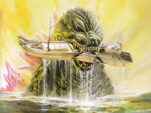 godzilla vs boat.thumbnail Godzilla Vs Boat Fantasy   Science Fiction