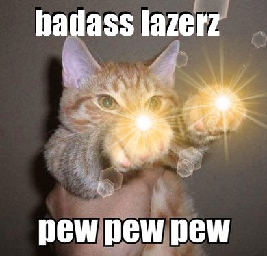 badass lazerz pew pew pew badass lazerz   pew pew pew lolcats Cute As Hell Animals