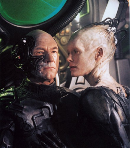 captain picard and borg queen