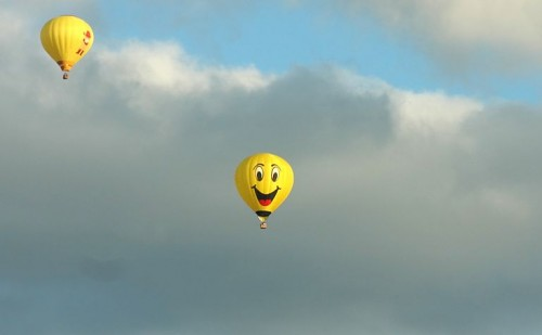 happy hot air ballon