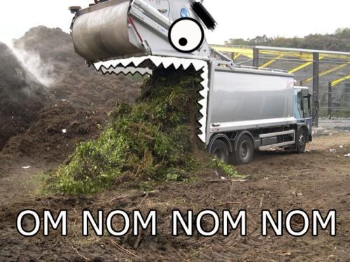 hungry trash truck