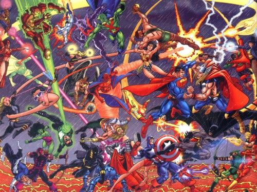 marvel vs dc 500x375 Marvel Vs Dc Wallpaper Comic Books