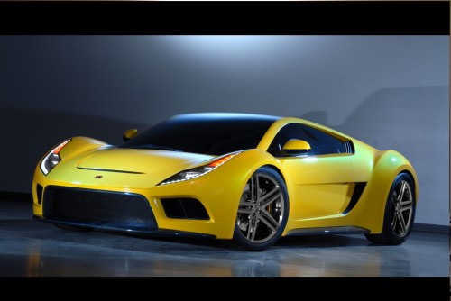 nice yellow car