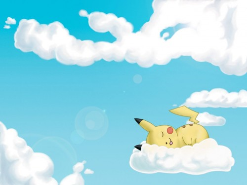 Pikachu Sleeping on Cloud