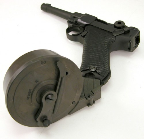 pistol barrel mag 500x483 Pistol Drum Magazine wtf Weapons