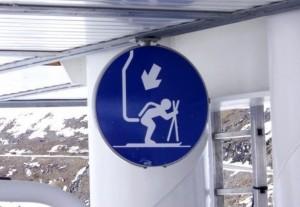 Ski Accident Sign