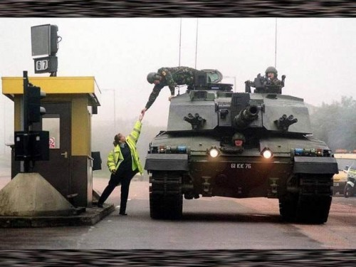 tank toll booth payment