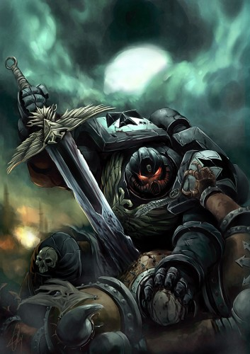 warhammer 40k - back stabbing space marine